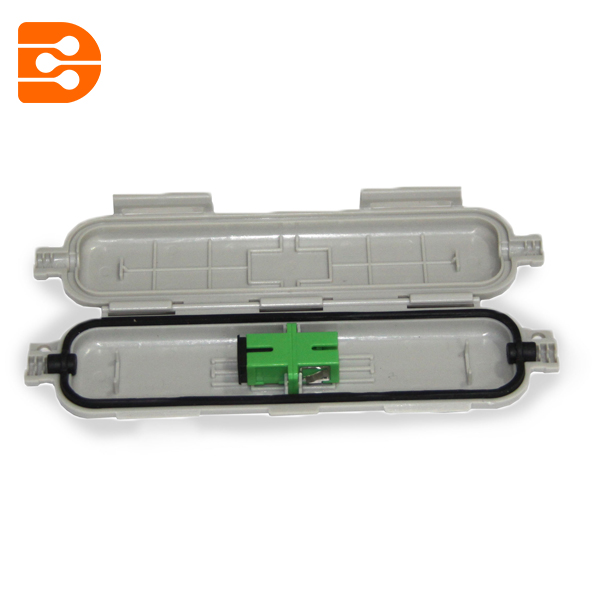 Fiber Optic Drop Cable Splicing Protective Box with Adaptor