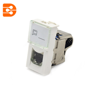 LCS2 Mosaic CAT 6 Socket Shielded 2modular Breed
