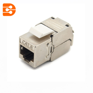 Toolless CAT 6 Shielded High Density Keystone Jack 180 Degree
