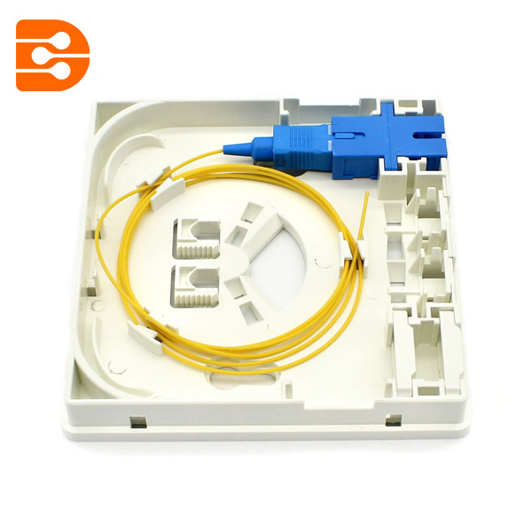 2 Port Fiber Optic Outlet