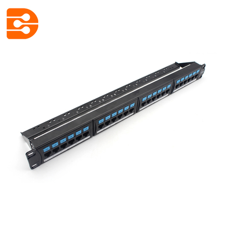 24 Ports Cat.5e Patch Panel with Cable Management