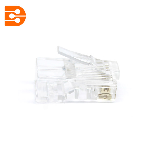 End pass through RJ45 UTP modular plug