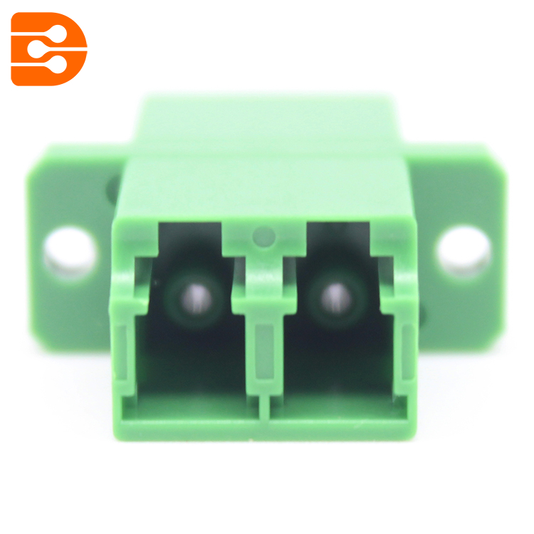 LC/APC Duplex Adapter with Flange