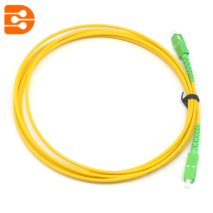 Simplex SC/APC to SC/APC SM Fiber Optic Patch Cord