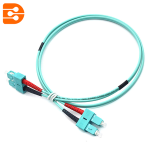 Duplex SC/PC to SC/PC OM3 MM Fiber Optic Patch Cord