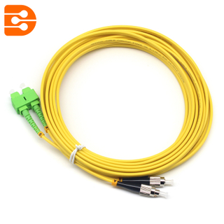 Duplex SC/APC to FC/UPC SM Fiber Optic Patch Cord