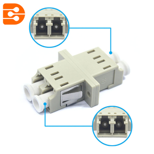 LC Multimode Duplex Adapter with Flange