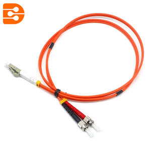 Duplex LC/PC to ST/PC OM1 MM Fiber Optic Patch Cord