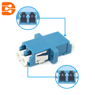 LC/UPC Duplex Adapter with Flange