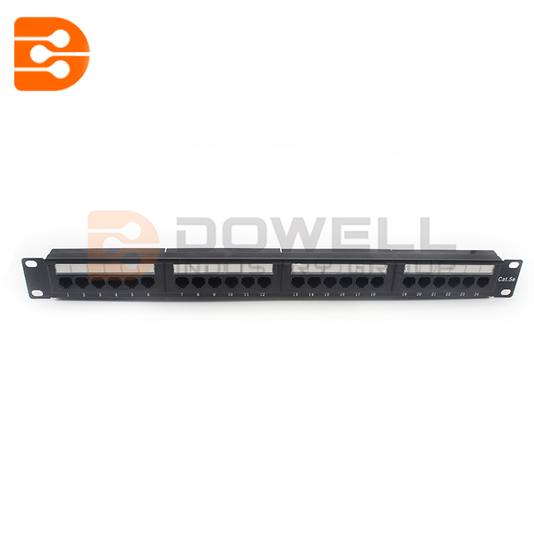 DW-4012 UTP 24 Ports Cat5E Din Rail Patch Panel , Cat5E 24 Port Patch Panel