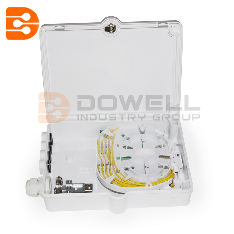 DW-1206 Outdoor 8 Cores Fiber Optic Distribution Box With 1*8 PLC Splitter