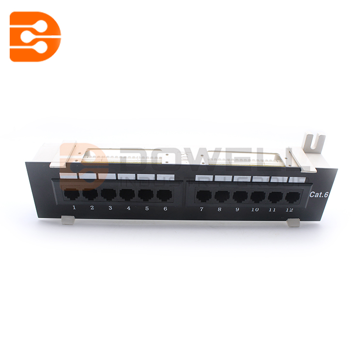 12 Ports Cat6 Wallmount Patch Panel
