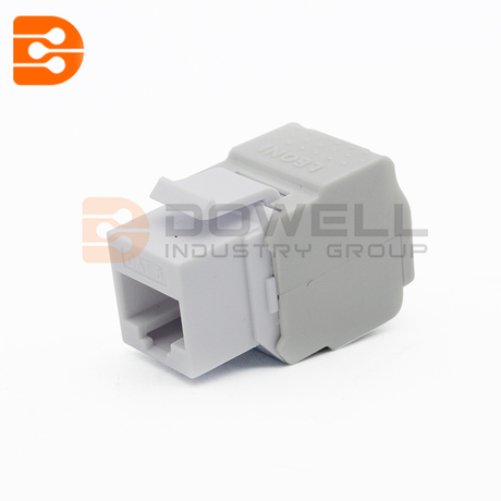 Cat6A RJ-45 Toolless 180-Degree Short Body 28mm Keystone