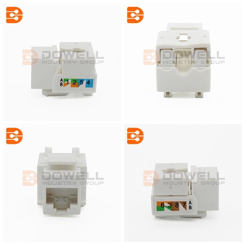 Cat6 UTP 90 110 Punch Down Keystone Jack