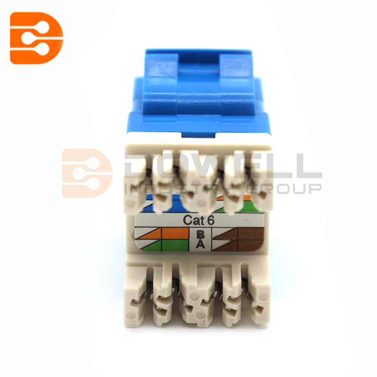 CONNECTIVITY Amp Netconnect Cat6 Jack Keystone XL Blue