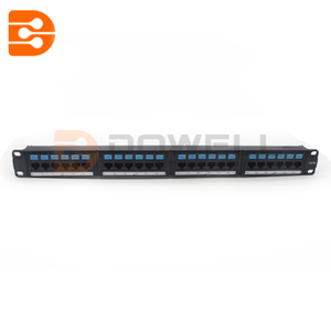 24 Port 0.5U Rack Mountable Cat5e RJ45 Utp Patch Panel