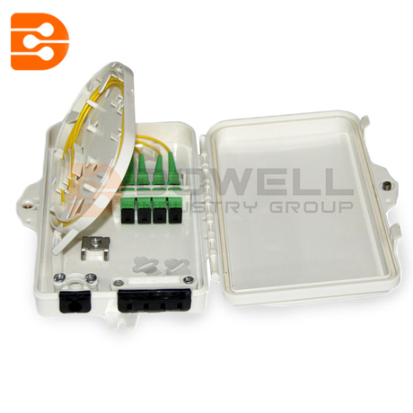 DW-1204 FTTH 4 Core Wall Mount Optical Fiber Distribution Fiber Terminal Box