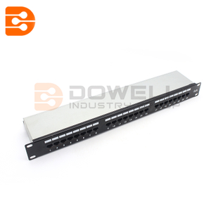 24-Port 1U Rack-Mount STP Shielded Cat5e Patch Panel