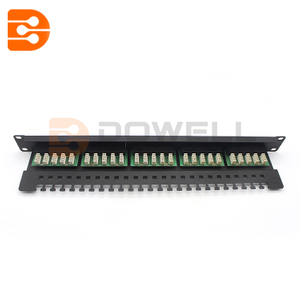 25 Port Black Excel 3 Pair VoIce RJ45 Patch Panel