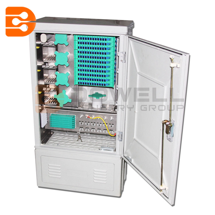144 Fiber Fusion Splicer Fiber Optic Cross Connection Cabinet Wall Mount for Outdoor & Indoor