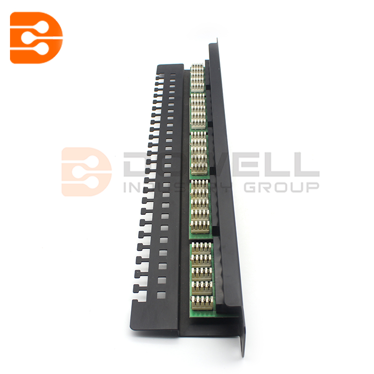 Navepoint 25-Port Cat3 Voice Phone Patch Panel Black