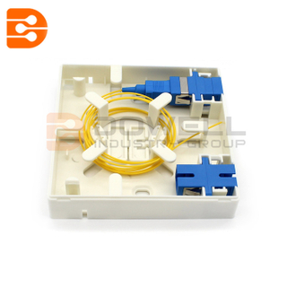 DW-1042 2 Ports FTTH Indoor Fiber Optic Socket Panel