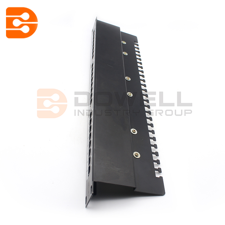 Excel 24 Port Cat5e 1u Shielded RJ45 Patch Panel