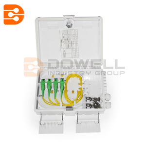 DW-1213 12 Core Fiber Optic Terminal Box FTTH Box Fiber Optic Distribution Box with 12pcs Adaptor and Pigtails