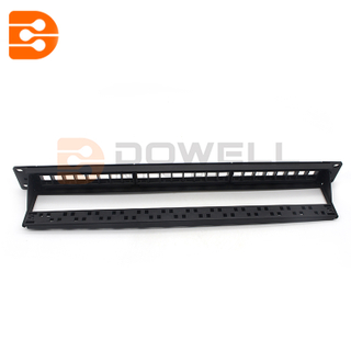 Blank Patch Panel,CAT 6A UTP, 24 Port, 1RMS