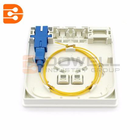 DW-1082 Fiber Optic Termination Box For FTTH / FTTO 86mm X 86mm X 25mm