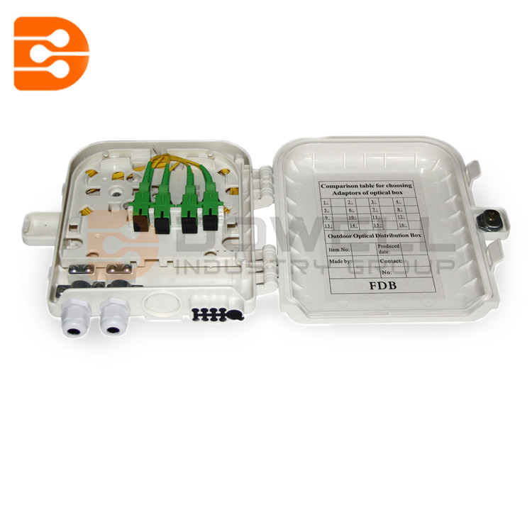 DW-1208 Fiber Access Terminal Box 8 Cores , Fiber Optic Ftth Distribution Terminal Box