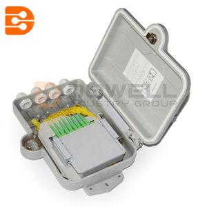 DW-1207 8 Core Outdoor Telephone Fiber Optic Distribution Box , Fiber Optic Enclosures Wall Mount