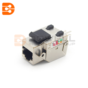 Cat6A UTP 90 degree 110 Electrical Plugs Keystone Jack