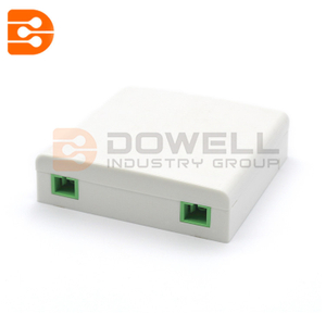 DW-1042 2 Ports Socket Panel for SC / LC Fiber Adapter Fiber Optic Terminal Box