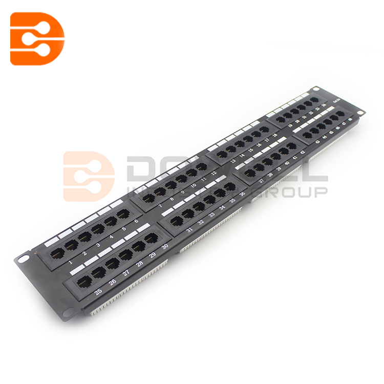 48 Port 2U Rack Mount Cat5e 110 Patch Panel
